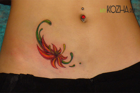 татуировка на шраме