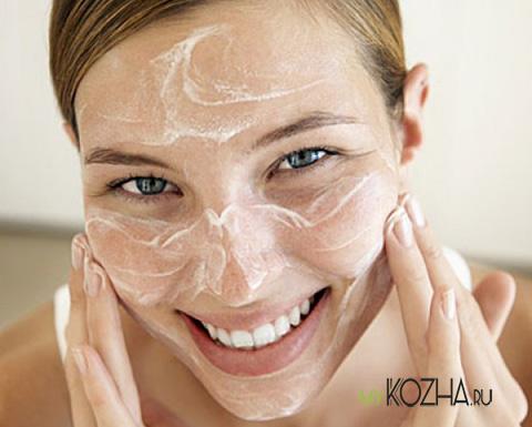 маска-для-лица-из-мыльной-пены